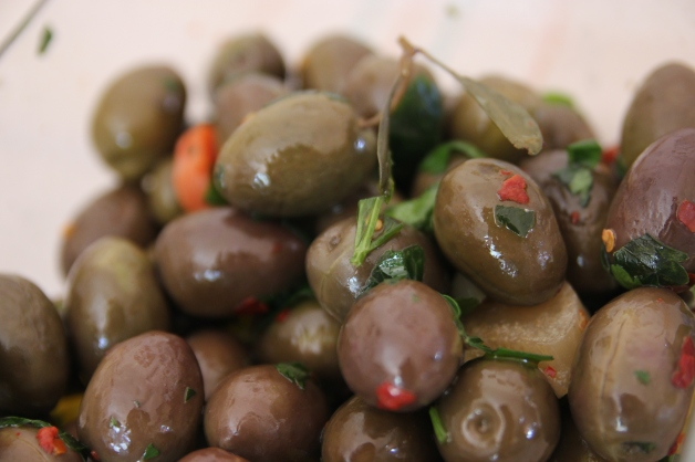 Homemade Gaeta Olives